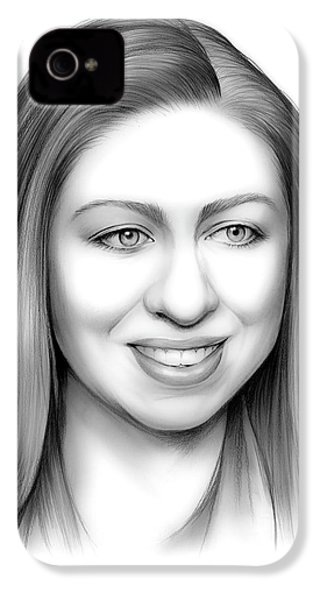 Chelsea Clinton IPhone 4 / 4s Case by Greg Joens
