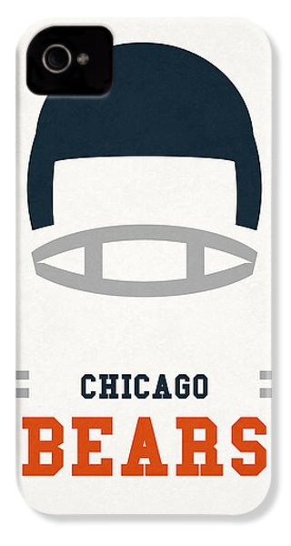 Chicago Bears Vintage Art IPhone 4 / 4s Case by Joe Hamilton