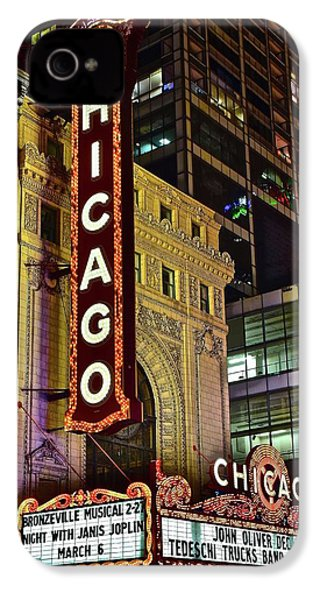 Chicago Theater Aglow IPhone 4 / 4s Case by Frozen in Time Fine Art Photography