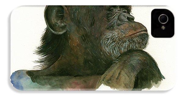 Chimp Portrait IPhone 4 / 4s Case by Juan Bosco