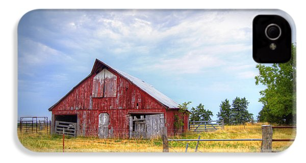 Christian School Road Barn IPhone 4 / 4s Case by Cricket Hackmann