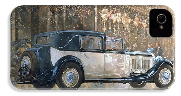 Christmas Lights And 8 Litre Bentley IPhone 4 / 4s Case by Peter Miller