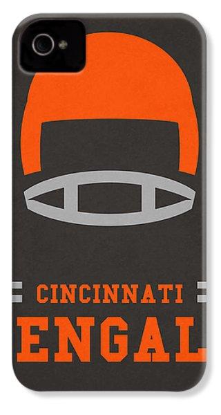 Cincinnati Bengals Vintage Art IPhone 4 / 4s Case by Joe Hamilton