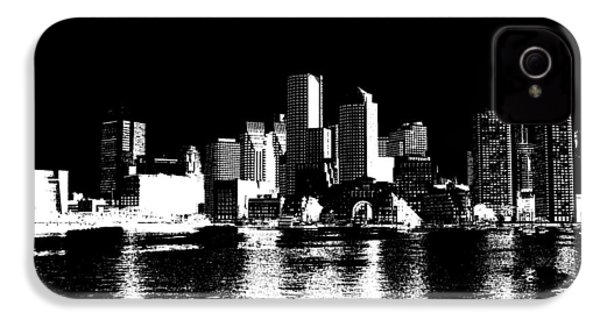 City Of Boston Skyline   IPhone 4 / 4s Case by Enki Art
