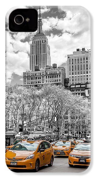 City Of Cabs IPhone 4 / 4s Case by Az Jackson