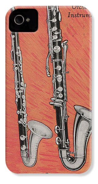 Clarinet And Giant Boehm Bass IPhone 4 / 4s Case by American School