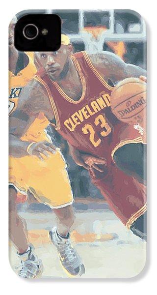 Cleveland Cavaliers Lebron James 3 IPhone 4 / 4s Case by Joe Hamilton