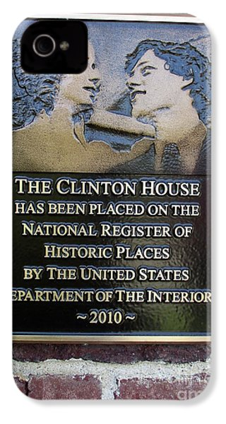 Clinton House Museum 2 IPhone 4 / 4s Case by Randall Weidner