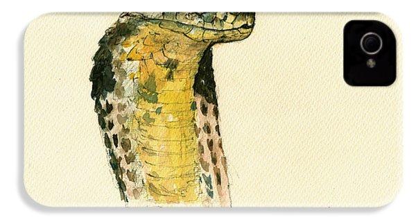 Cobra Snake Poster IPhone 4 / 4s Case by Juan  Bosco