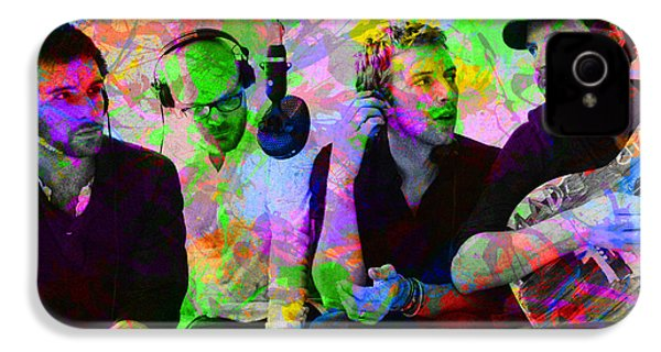 Coldplay Band Portrait Paint Splatters Pop Art IPhone 4 / 4s Case by Design Turnpike