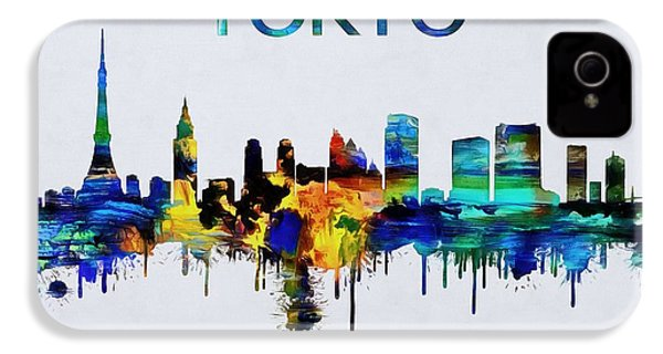 Colorful Tokyo Skyline Silhouette IPhone 4 / 4s Case by Dan Sproul