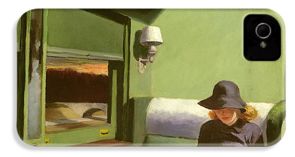 Compartment C IPhone 4 / 4s Case by Edward Hopper
