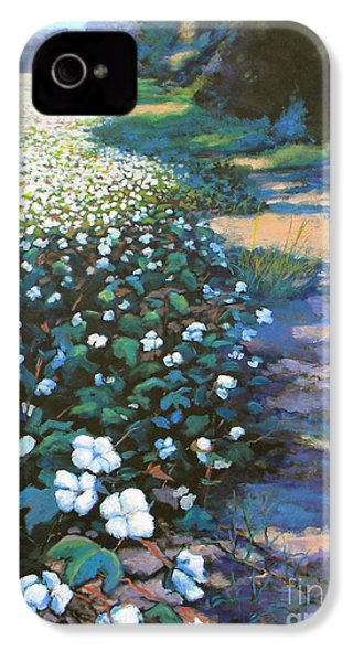 Cotton Field IPhone 4 / 4s Case by Jeanette Jarmon