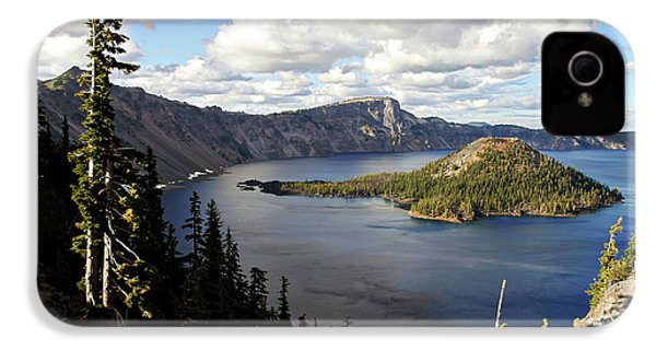Crater Lake - Intense Blue Waters And Spectacular Views IPhone 4 / 4s Case by Christine Till