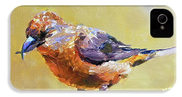 Crossbill IPhone 4 / 4s Case by Jan Hardenburger
