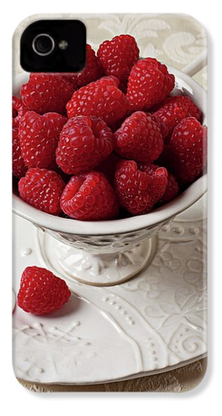 Cup Full Of Raspberries  IPhone 4 / 4s Case by Garry Gay