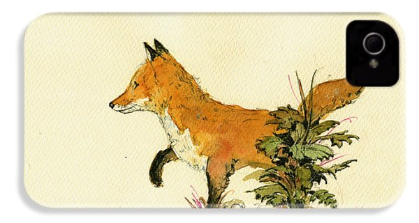 Cute Fox In The Forest IPhone 4 / 4s Case by Juan  Bosco