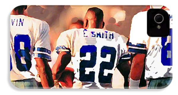 Dallas Cowboys Triplets IPhone 4 / 4s Case by Paul Van Scott