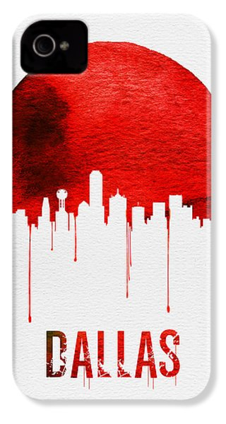 Dallas Skyline Red IPhone 4 / 4s Case by Naxart Studio