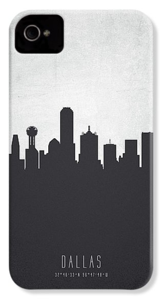 Dallas Texas Cityscape 19 IPhone 4 / 4s Case by Aged Pixel
