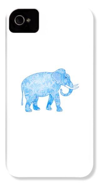 Damask Pattern Elephant IPhone 4 / 4s Case by Antique Images