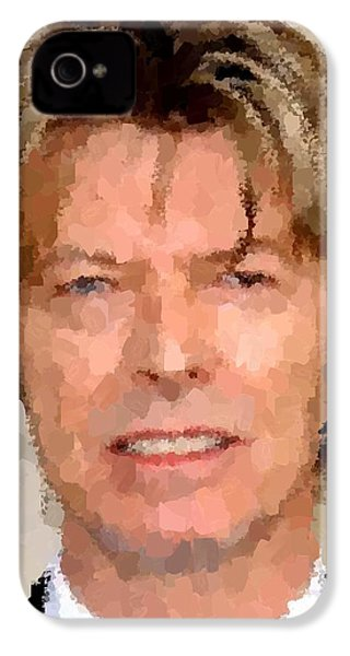 David Bowie Portrait IPhone 4 / 4s Case by Samuel Majcen