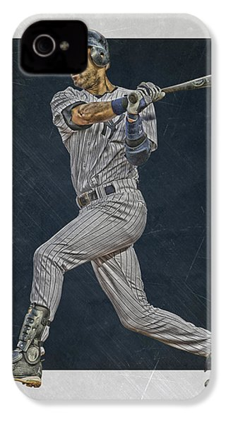 Derek Jeter New York Yankees Art 2 IPhone 4 / 4s Case by Joe Hamilton