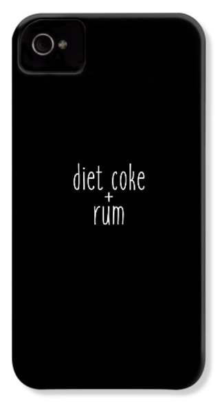 Diet Coke And Rum IPhone 4 / 4s Case by Cortney Herron