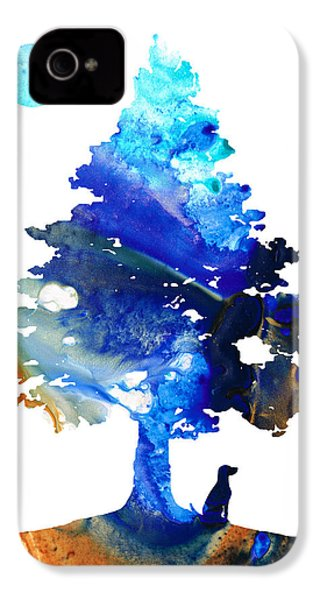 Dog Art - Contemplation - By Sharon Cummings IPhone 4 / 4s Case by Sharon Cummings