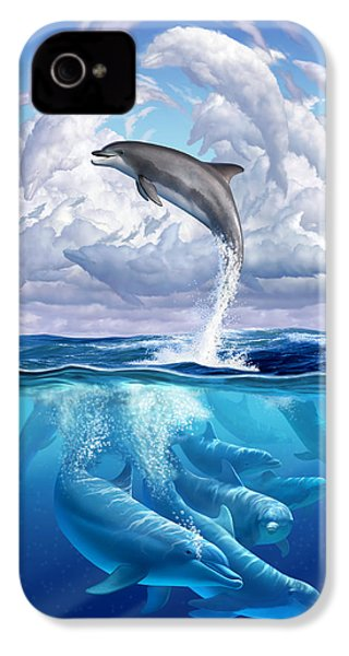 Dolphonic Symphony IPhone 4 / 4s Case by Jerry LoFaro