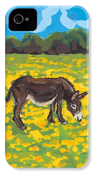 Donkey And Buttercup Field IPhone 4 / 4s Case by Sarah Gillard