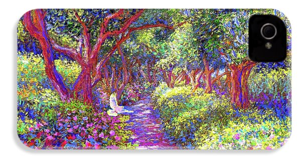 Dove And Healing Garden IPhone 4 / 4s Case by Jane Small