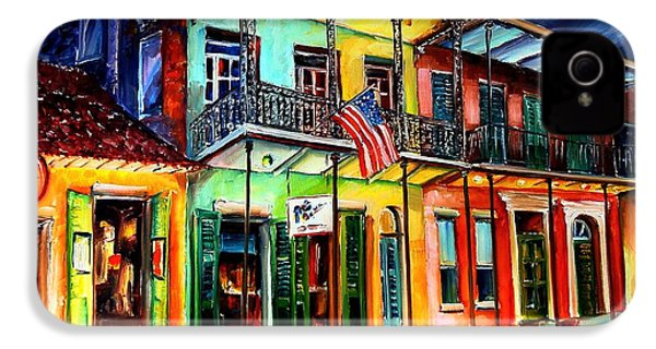 Down On Bourbon Street IPhone 4 / 4s Case by Diane Millsap