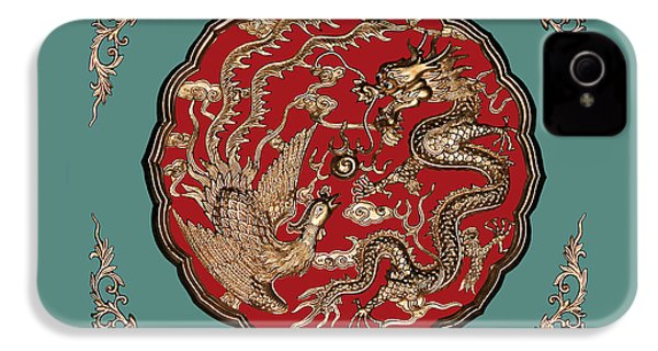 Dragon And Phoenix IPhone 4 / 4s Case by Kristin Elmquist