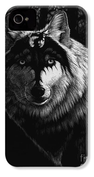 Dragon Wolf IPhone 4 / 4s Case by Stanley Morrison