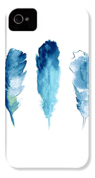 Dream Catcher Feathers Painting IPhone 4 / 4s Case by Joanna Szmerdt