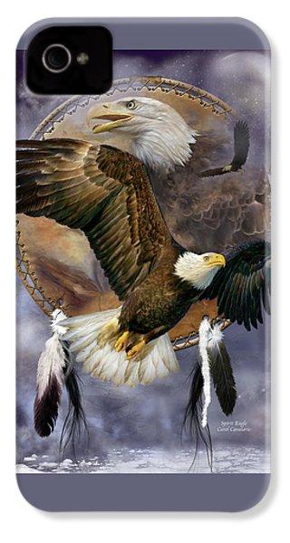 Dream Catcher - Spirit Eagle IPhone 4 / 4s Case by Carol Cavalaris