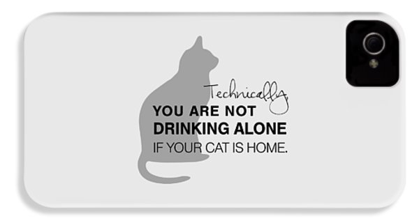 Drinking With Cats IPhone 4 / 4s Case by Nancy Ingersoll