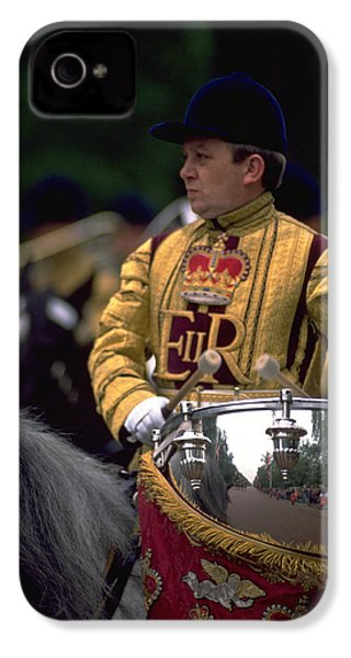IPhone 4 / 4s Case featuring the photograph Drum Horse At Trooping The Colour by Travel Pics