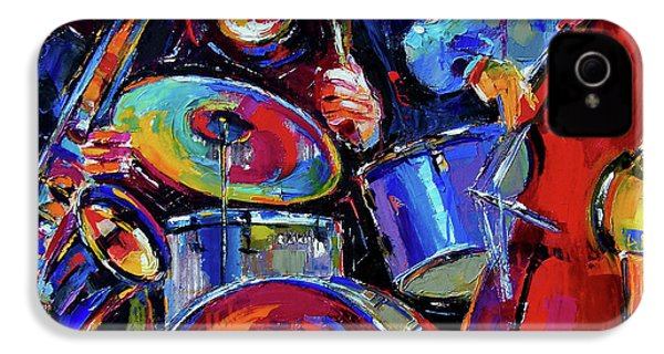 Drums And Friends IPhone 4 / 4s Case by Debra Hurd