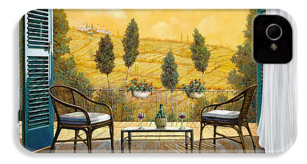 due bicchieri di Chianti IPhone 4 / 4s Case by Guido Borelli