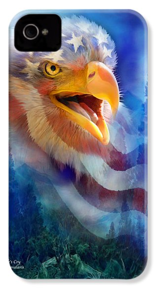 Eagle's Cry IPhone 4 / 4s Case by Carol Cavalaris