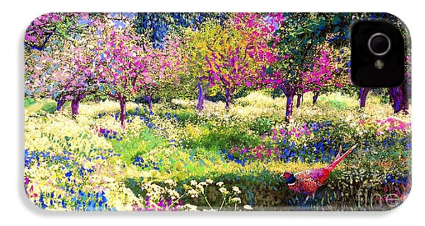 Echoes From Heaven, Spring Orchard Blossom And Pheasant IPhone 4 / 4s Case by Jane Small