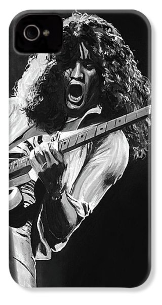 Eddie Van Halen - Black And White IPhone 4 / 4s Case by Tom Carlton