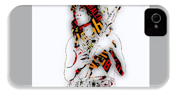 Eddie Van Halen Everybody Want's Some Lyrics IPhone 4 / 4s Case by Marvin Blaine