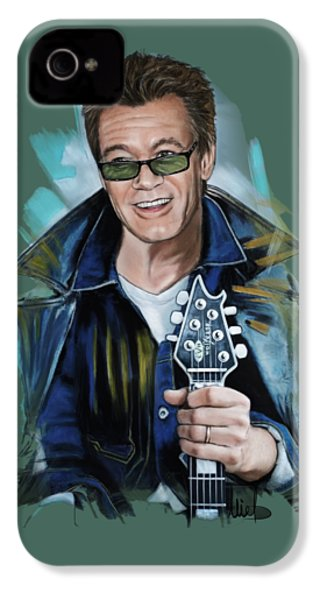 Eddie Van Halen IPhone 4 / 4s Case by Melanie D