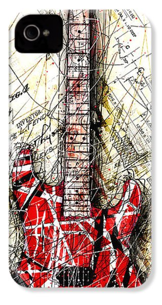 Eddie's Guitar Vert 1a IPhone 4 / 4s Case by Gary Bodnar