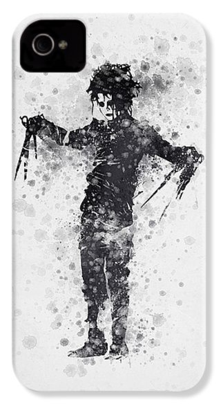 Edward Scissorhands 01 IPhone 4 / 4s Case by Aged Pixel