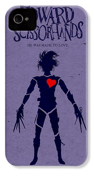 Edward Scissorhands Alternative Poster IPhone 4 / 4s Case by Christopher Ables