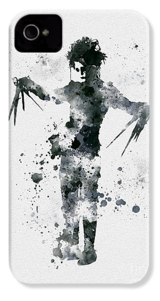Edward Scissorhands IPhone 4 / 4s Case by Rebecca Jenkins